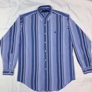 Ralph Lauren Medium Blue Striped Long Sleeve